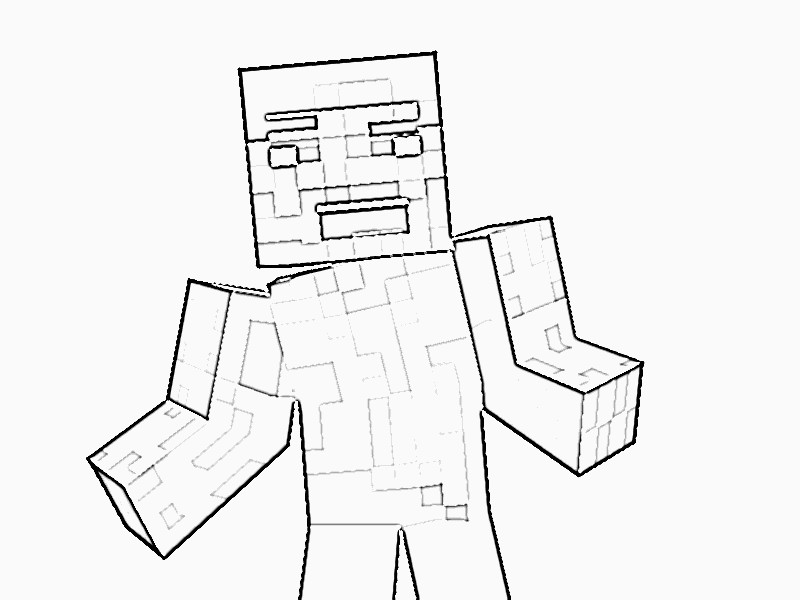 Minecraft Steve Coloring Pages  Printable Minecraft Coloring Pages Coloring Home