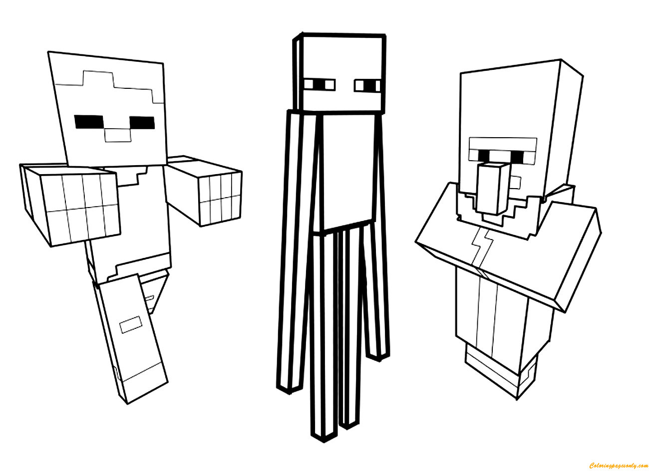 Minecraft Steve Coloring Pages  Steve Sitting With Minecraft Coloring Page Free Coloring