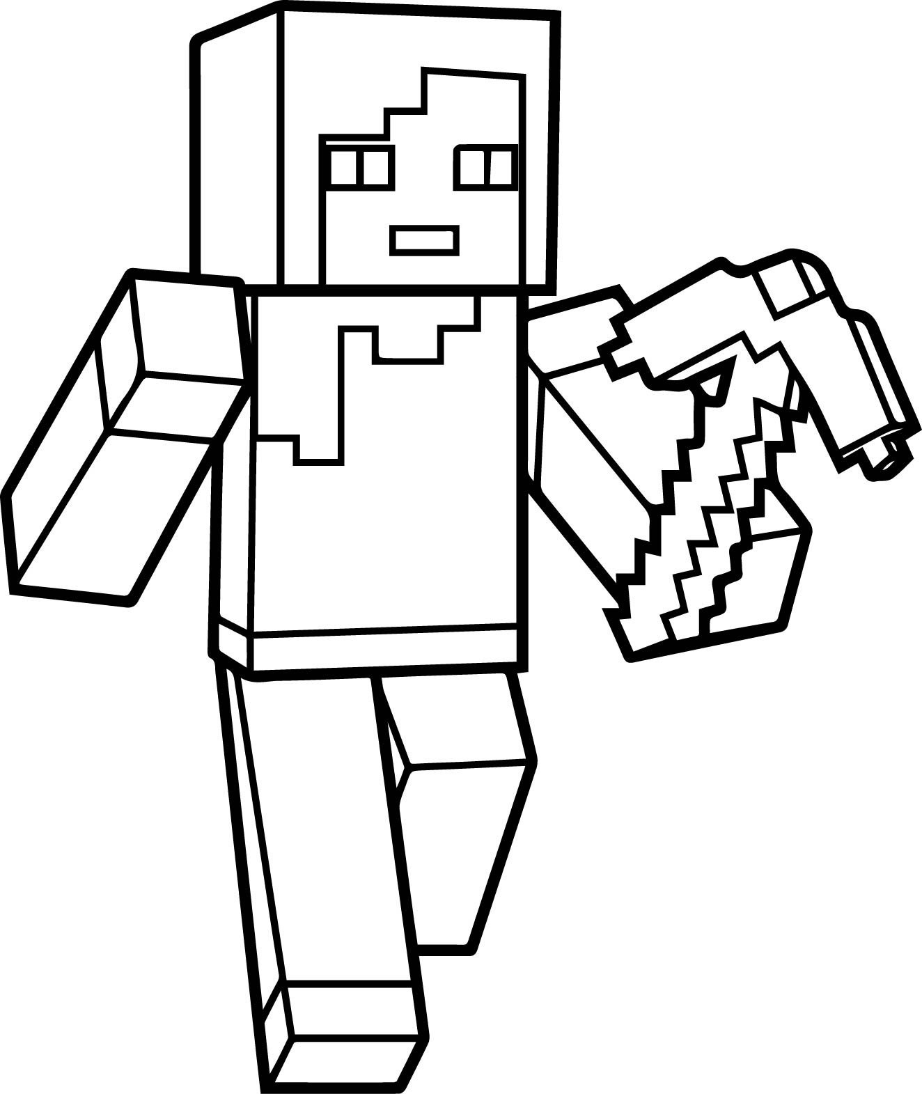 Minecraft Steve Coloring Pages  Minecraft Coloring Pages Best Coloring Pages For Kids