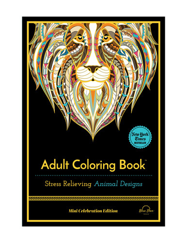 Mini Adult Coloring Book  Adult Coloring Book Stress Relieving Animal Designs Mini