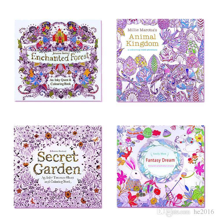 Mini Adult Coloring Book  Mini Adult Coloring Books Secret Garden Animal Kingdom