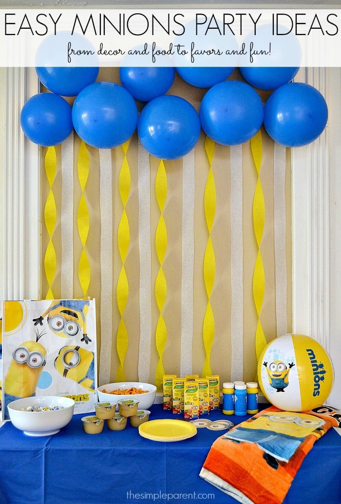 Best ideas about Minion Birthday Party Decorations . Save or Pin Celebrate with Easy Minions Party Ideas Now.
