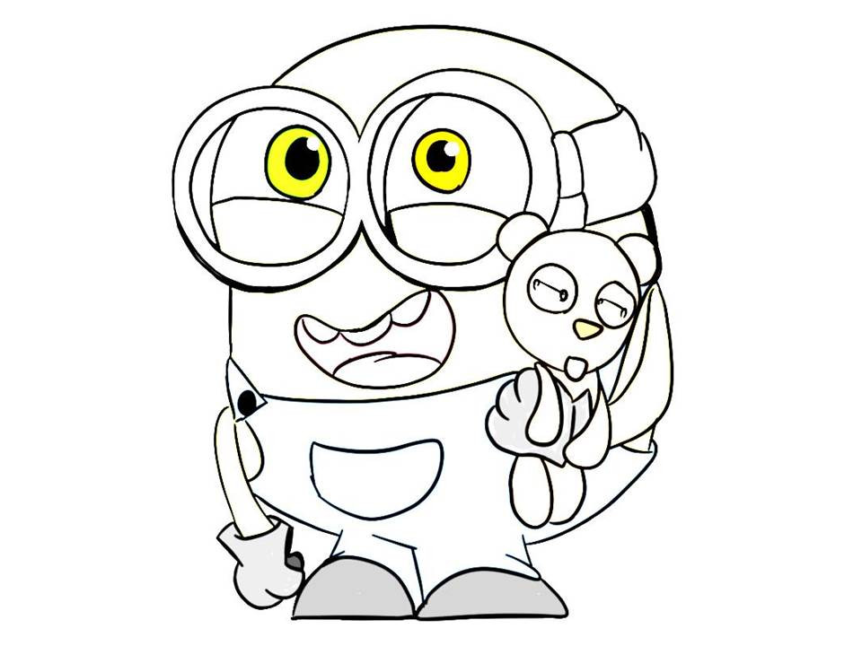 Minions Coloring Pages Bob  Minions Coloring Pages Bob Coloring Home