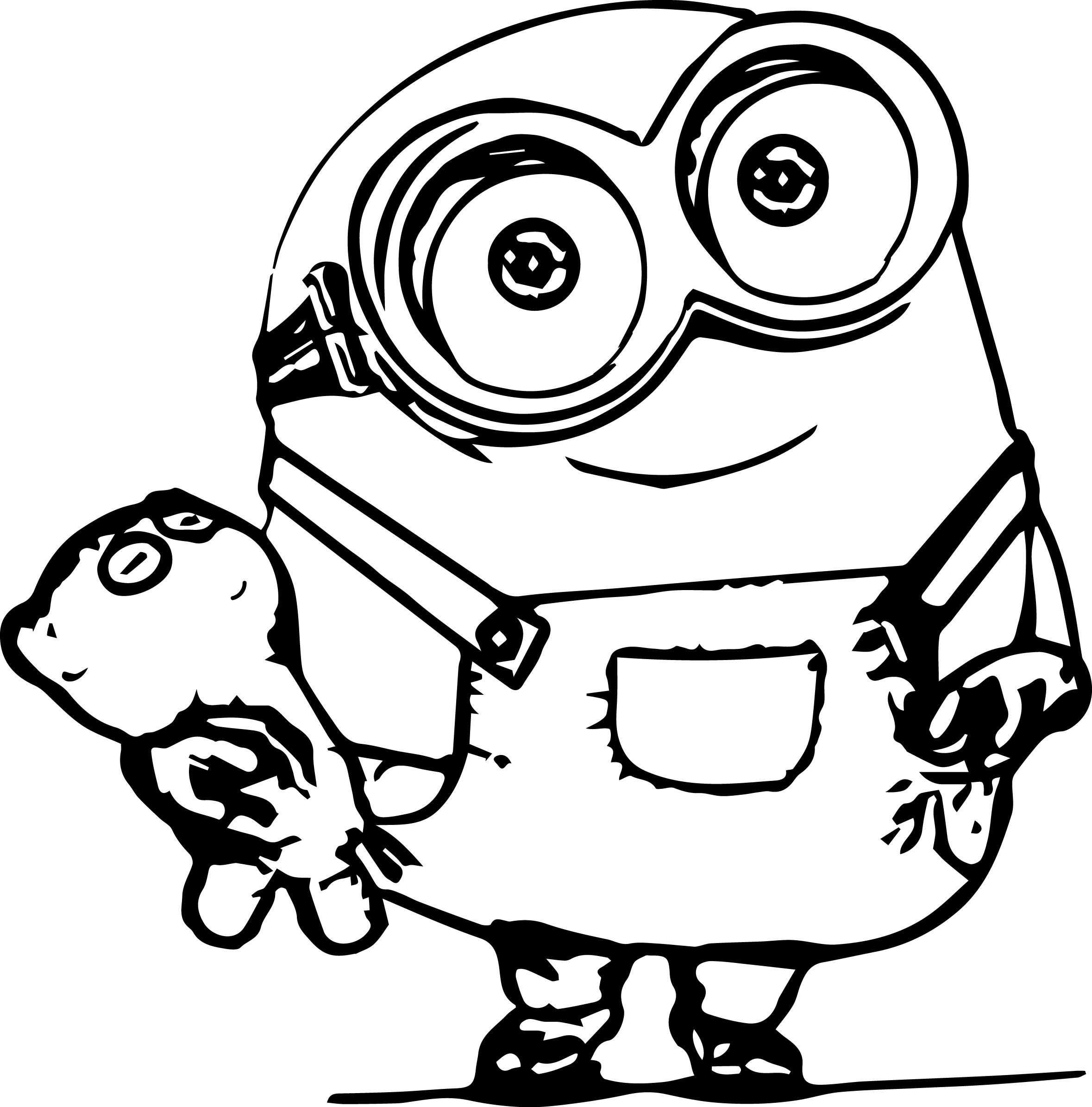 Minions Coloring Pages Bob  Bob the minions coloring pages ColoringStar