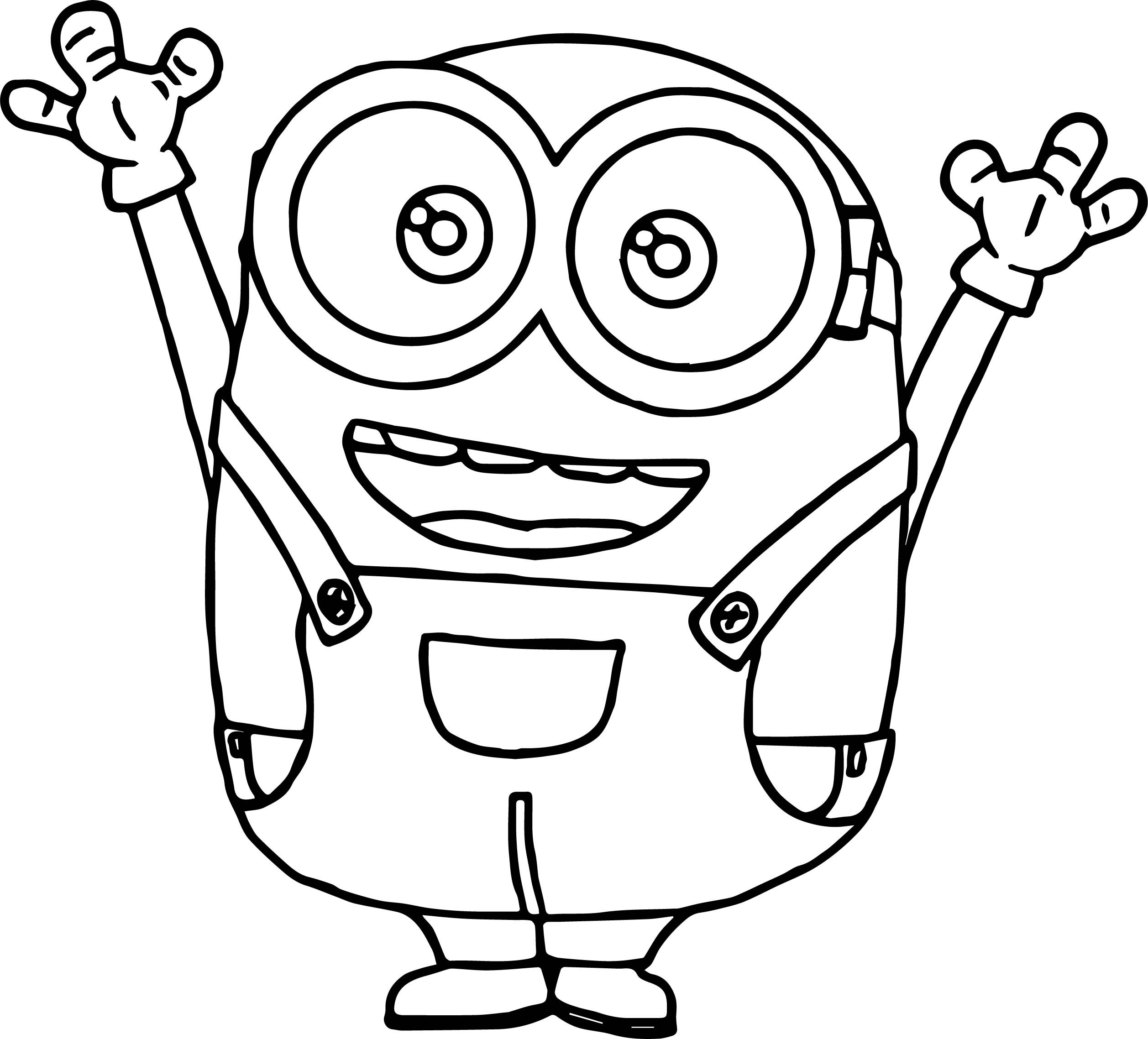 Minions Coloring Pages Bob  Minion Bob Coloring Pages Cute Sketch Coloring Page