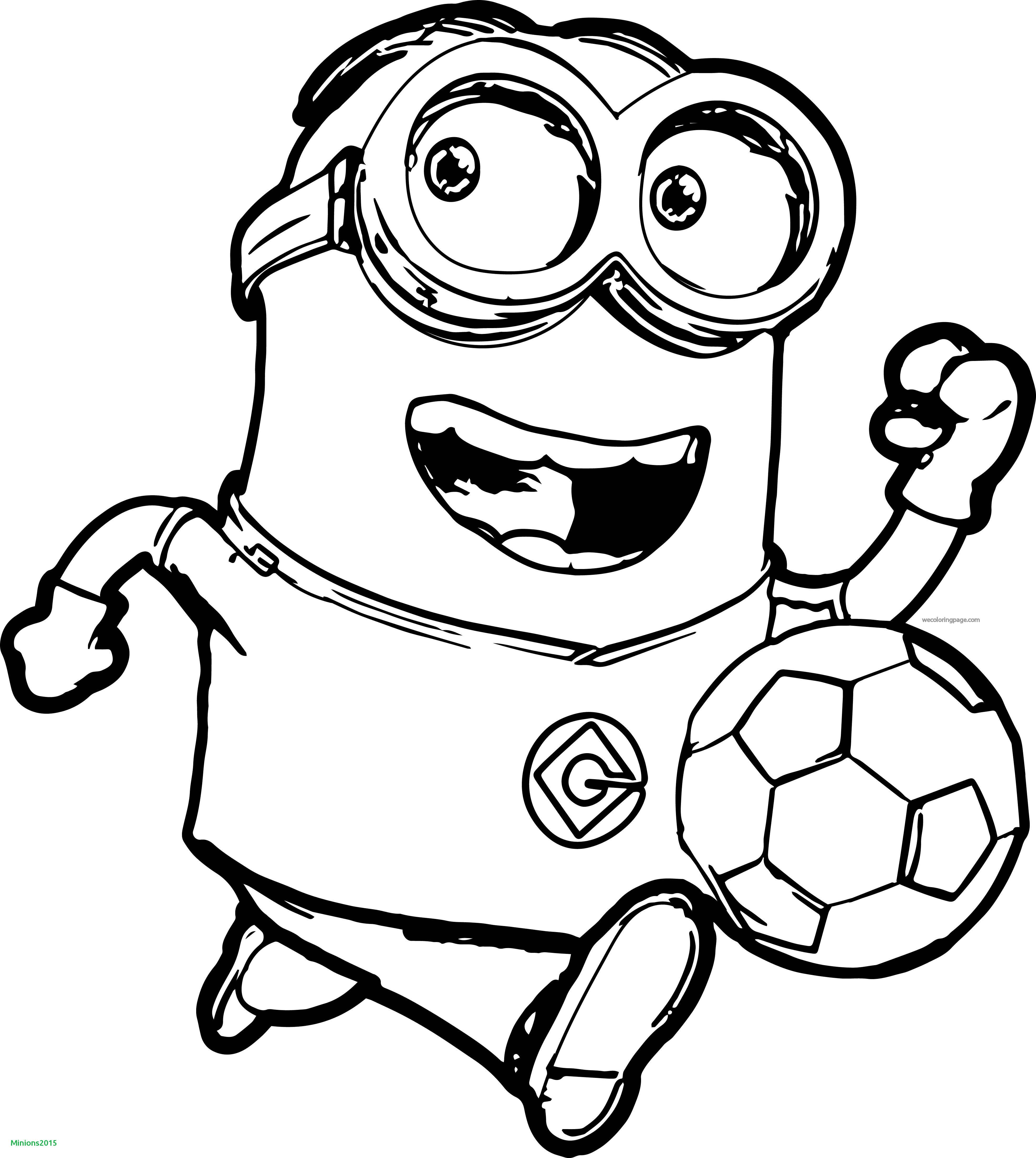 Minions Coloring Pages Bob  Minion Bob Para Colorear Beautiful Minion soccer Player