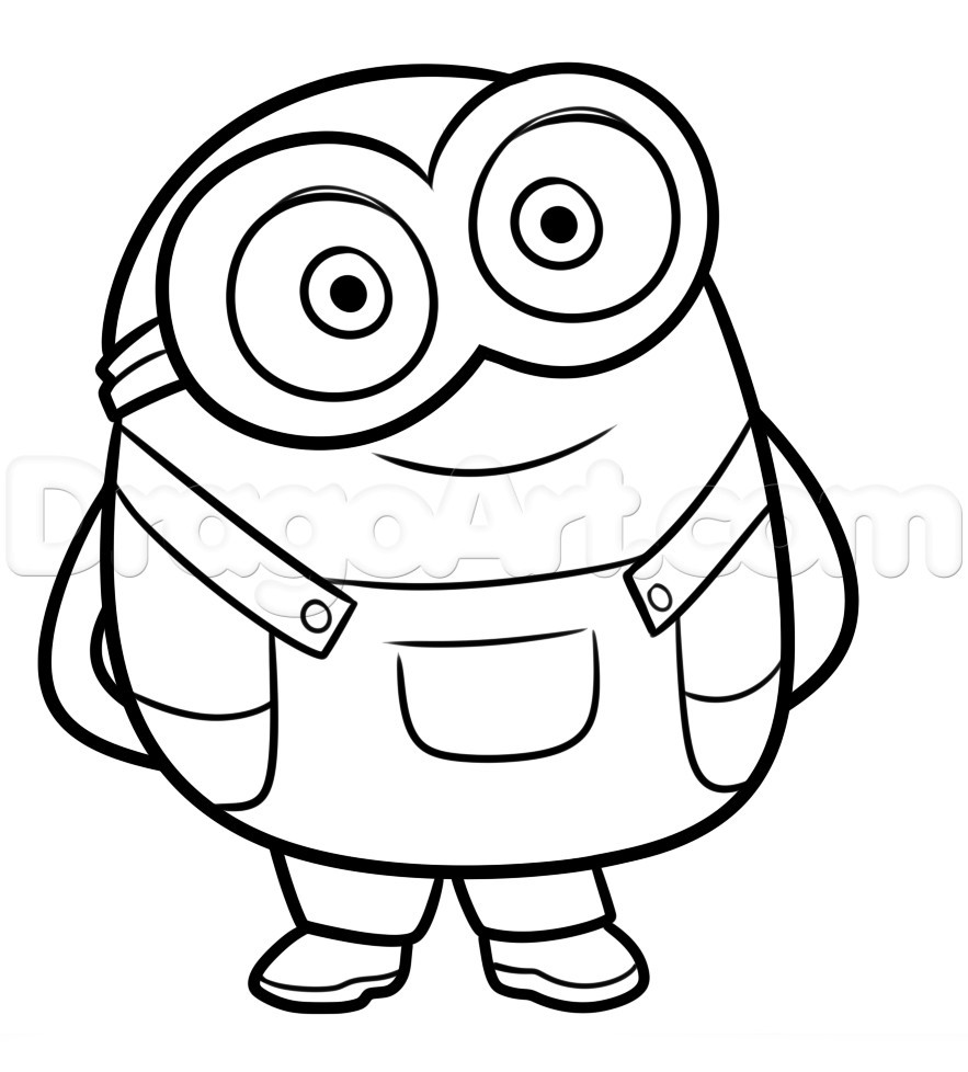 Minions Coloring Pages Bob  Minions Bob Coloring Pages thekindproject