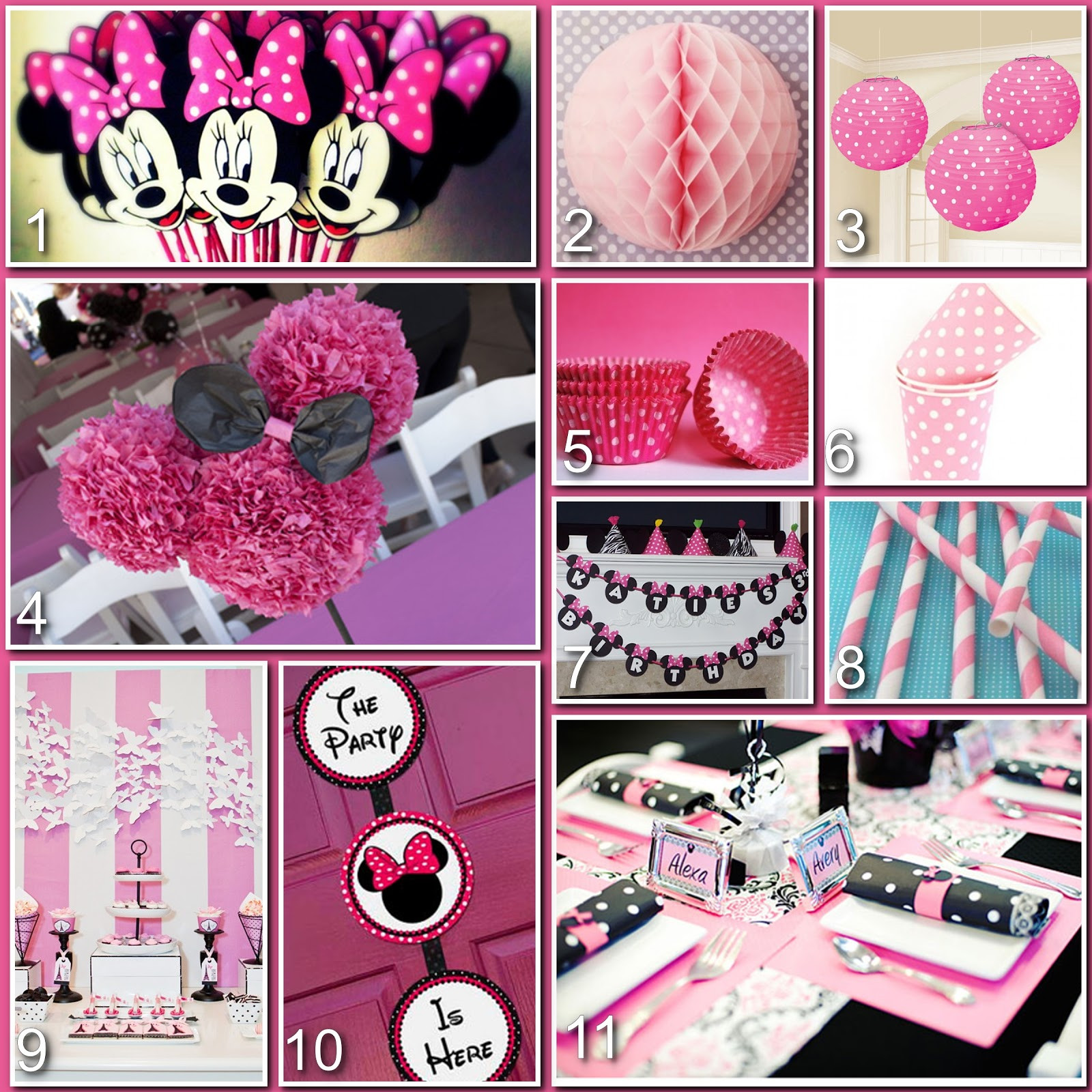 Best ideas about Minnie Mouse Birthday Decor . Save or Pin Disney Donna Kay Magical Blogorail Minnie Mouse Now.