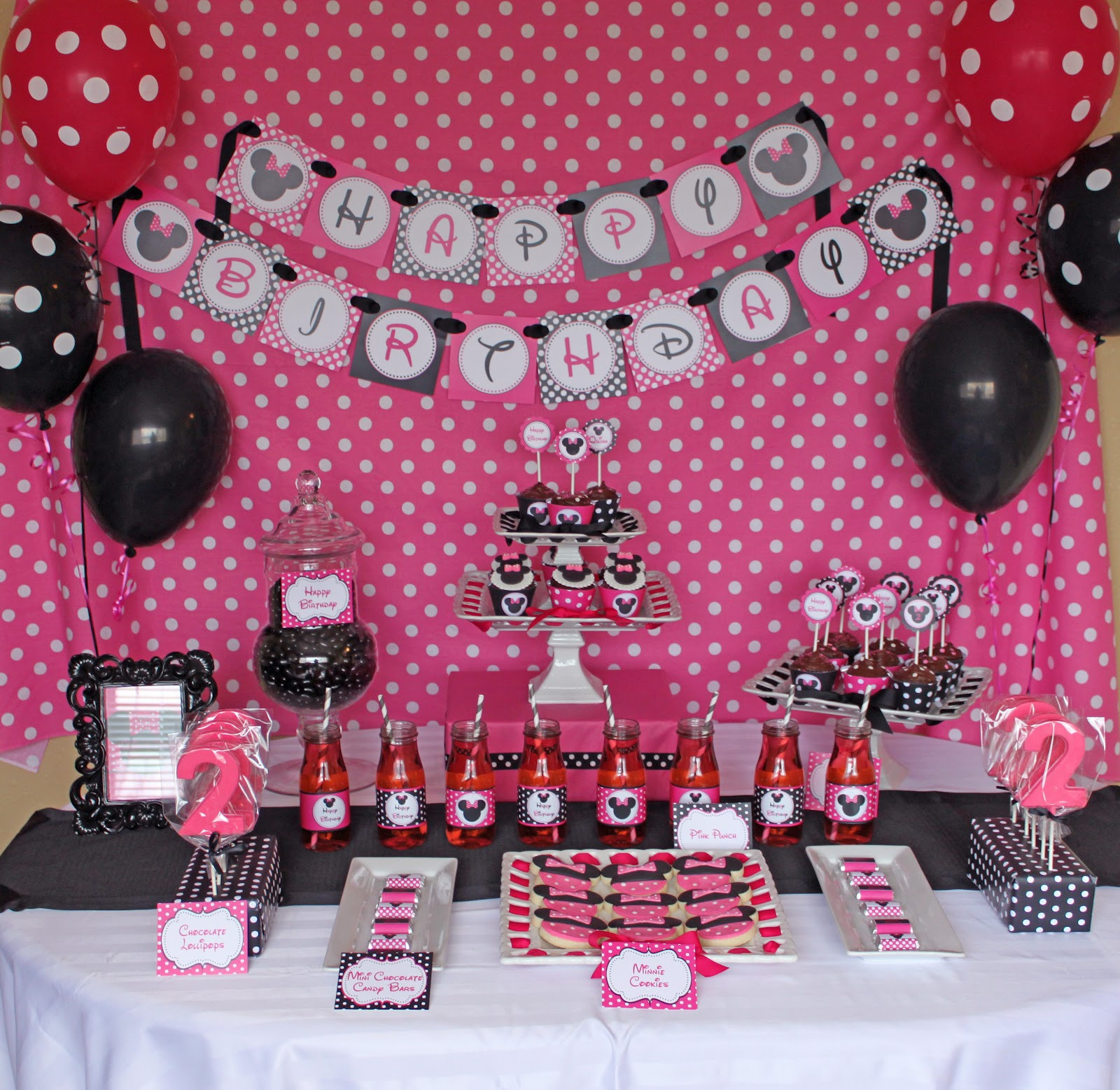 Best ideas about Minnie Mouse Birthday Decor . Save or Pin Minnie Mouse Birthday Party Now.