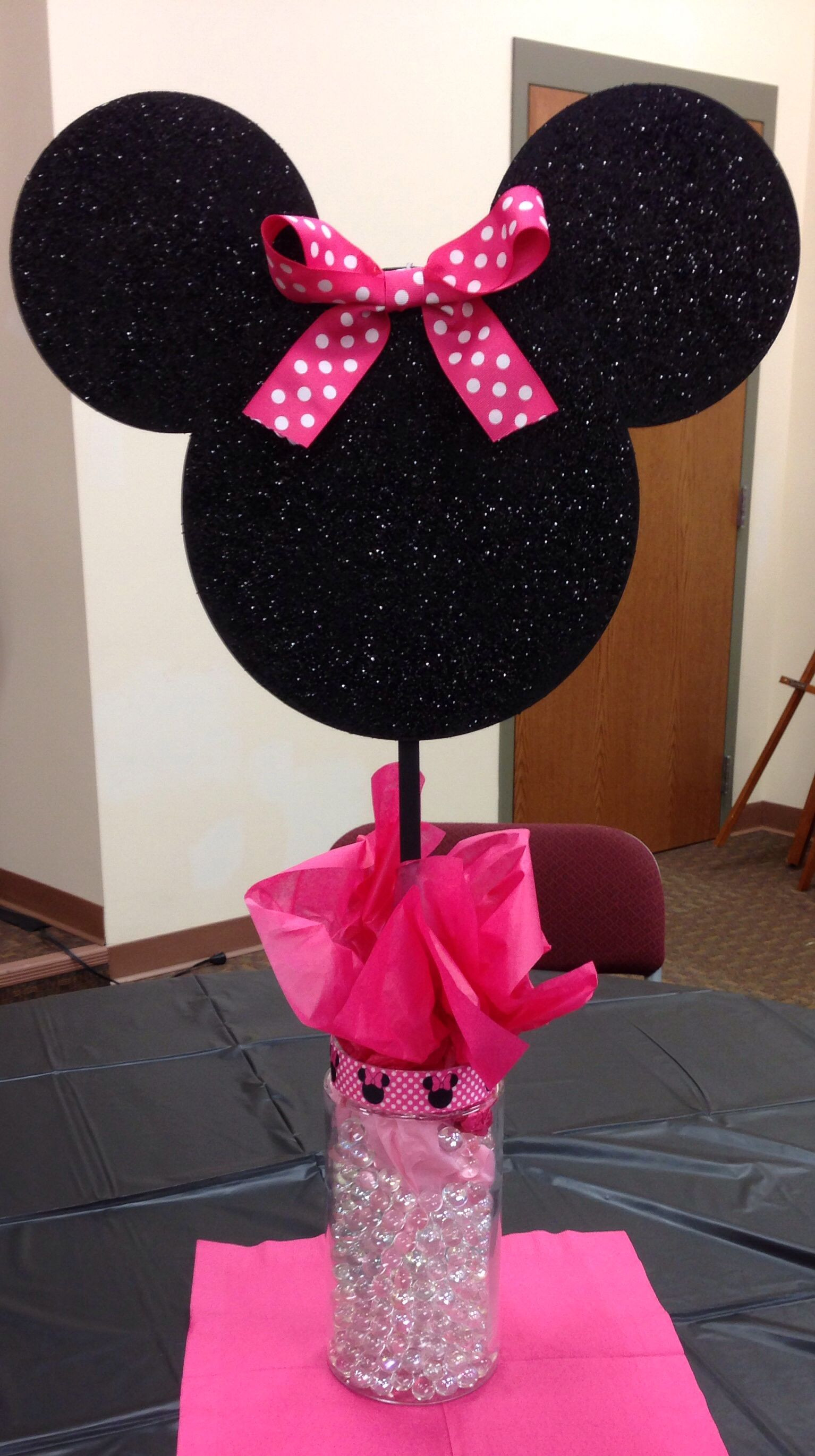 Best ideas about Minnie Mouse Birthday Decor . Save or Pin Minnie Mouse Centerpieces first birthday decorations Now.