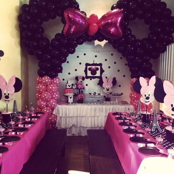 Best ideas about Minnie Mouse Birthday Decor . Save or Pin 32 Sweet And Adorable Minnie Mouse Party Ideas Shelterness Now.