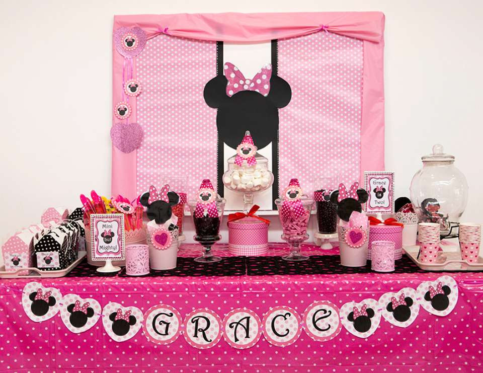 Best ideas about Minnie Mouse Birthday Decor . Save or Pin 35 Best Minnie Mouse Birthday Party Ideas Now.