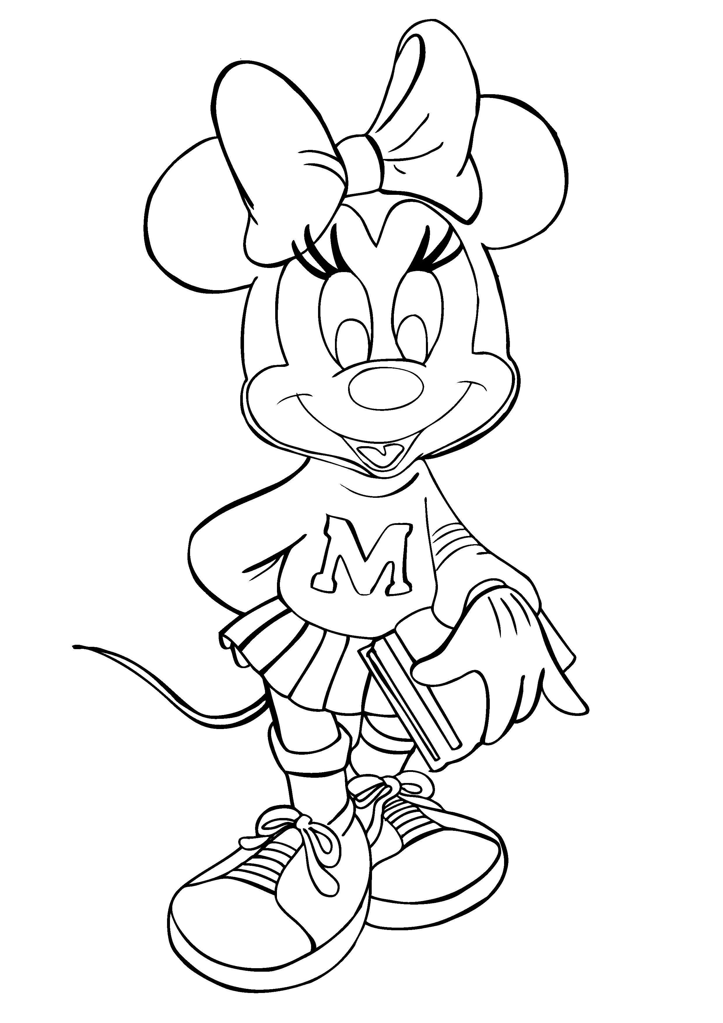 Minnie Mouse Coloring Pages For Kids Printable  Free Printable Minnie Mouse Coloring Pages For Kids