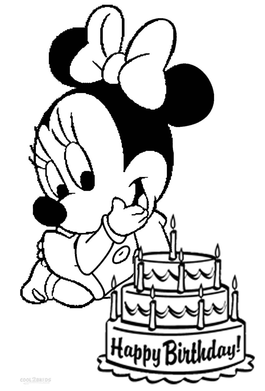 Minnie Mouse Coloring Pages For Kids Printable  Printable Minnie Mouse Coloring Pages For Kids