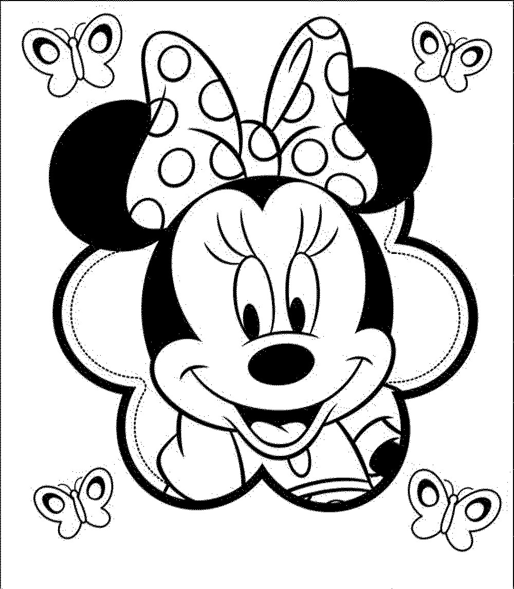 Minnie Mouse Coloring Pages  Print & Download Free Minnie Mouse Coloring Pages
