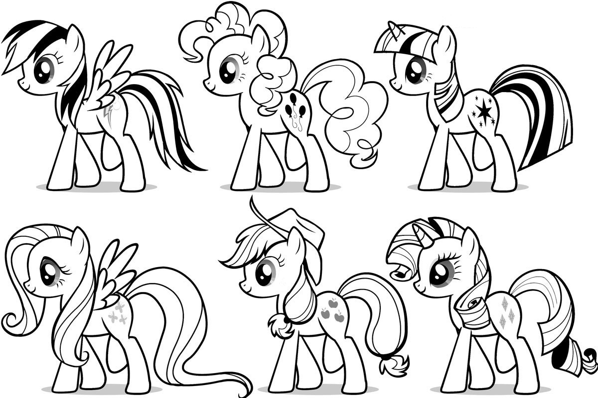 Mlp Printable Coloring Pages  Free Printable My Little Pony Coloring Pages For Kids
