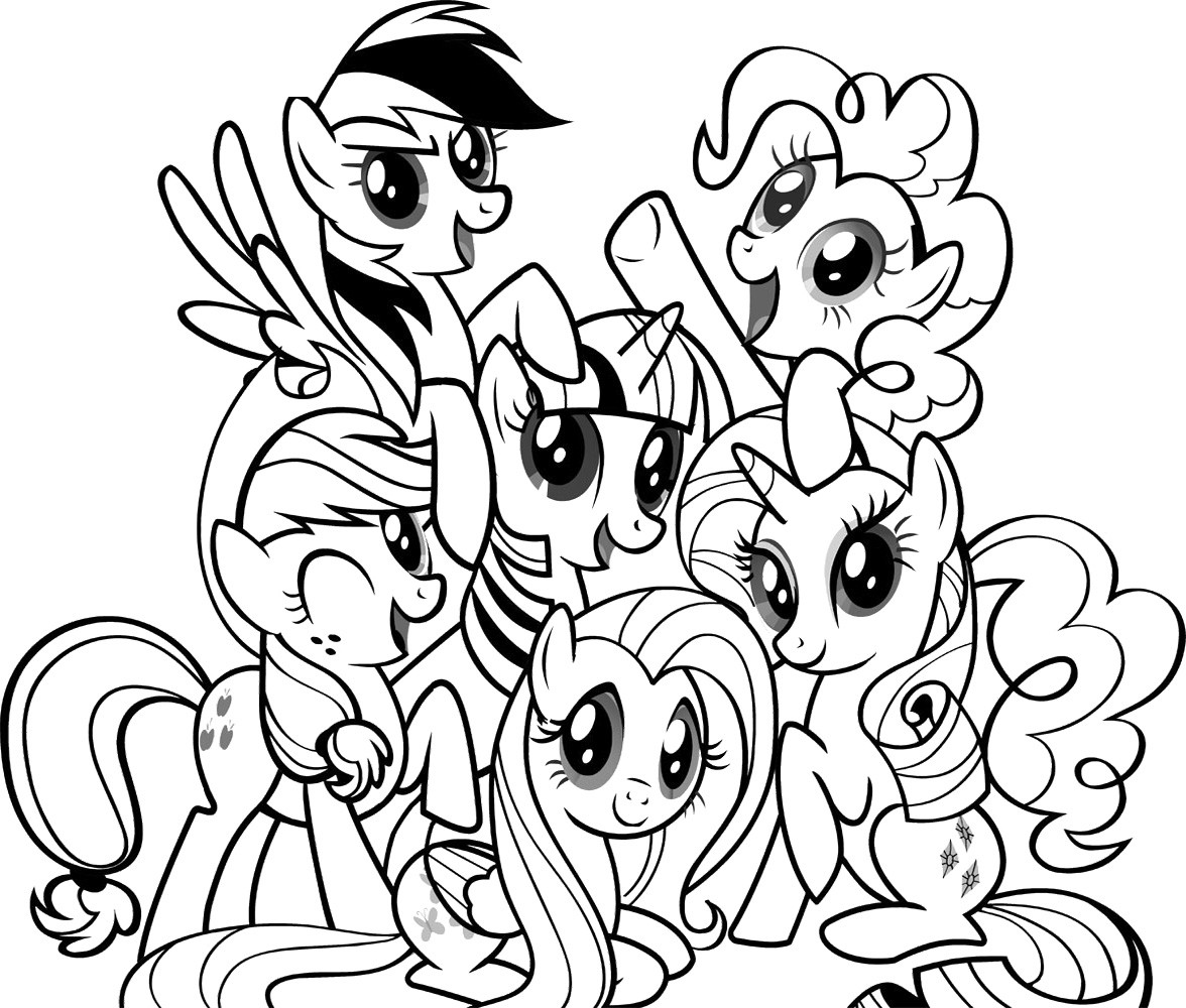 Mlp Printable Coloring Pages  my little pony coloring pages