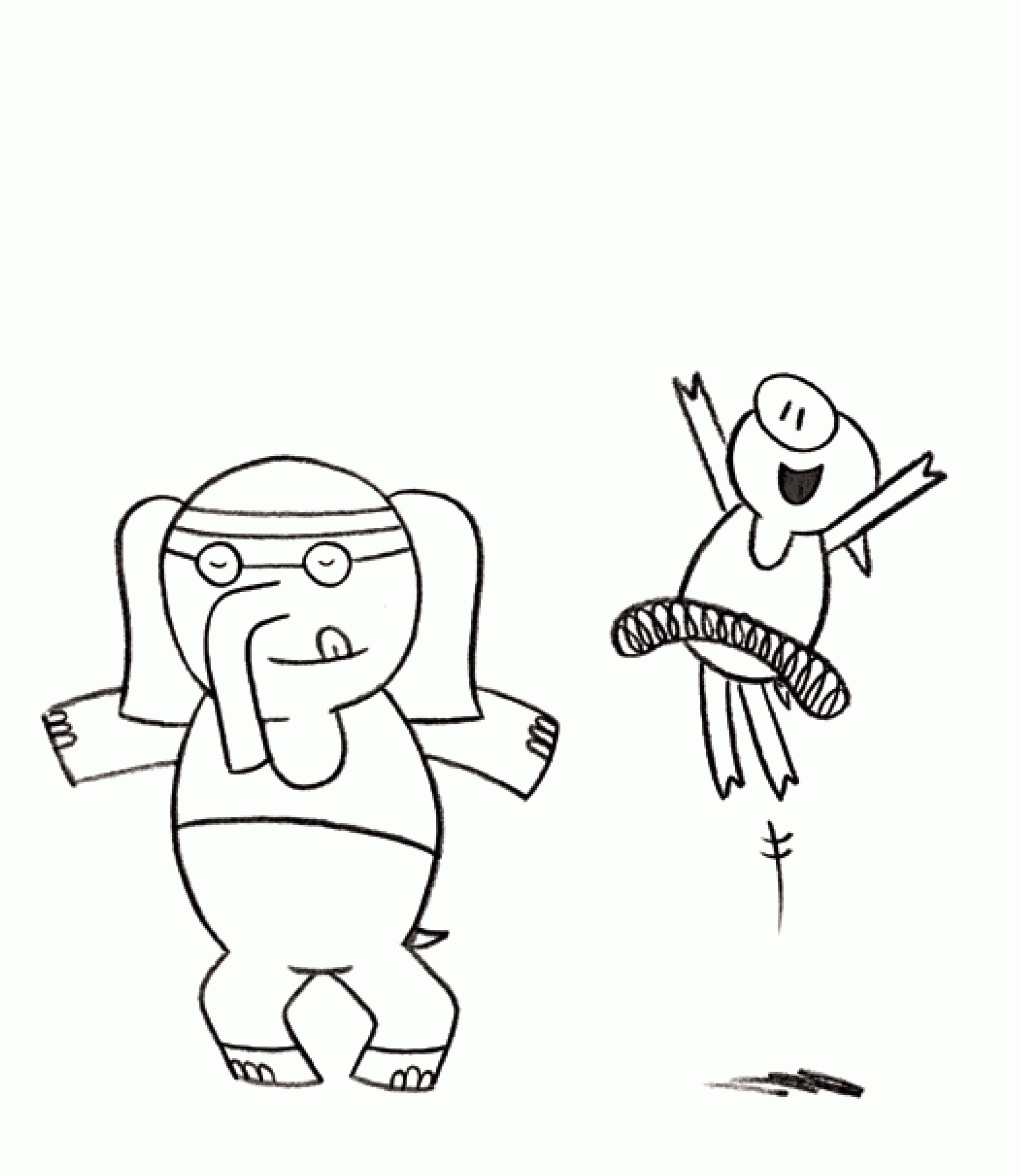 Mo Willems Coloring Pages  Elephant And Piggie Coloring Pages Coloring Home