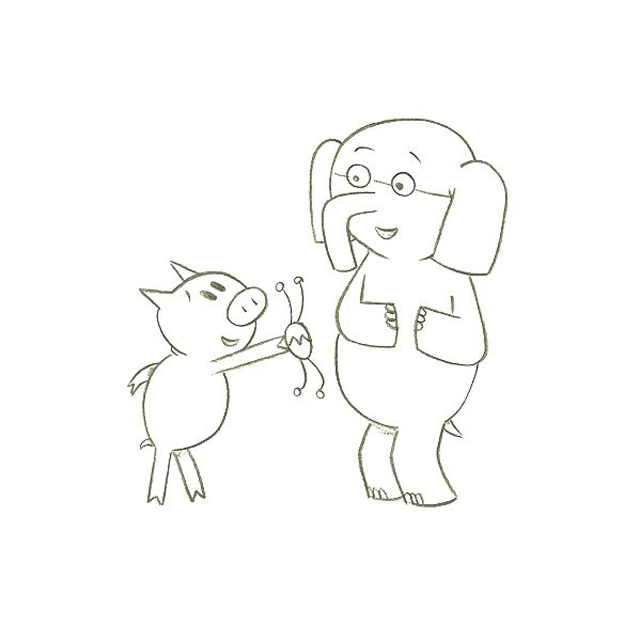 Mo Willems Coloring Pages  Mo Willems Coloring Pages Elephant And Piggie Coloring Home