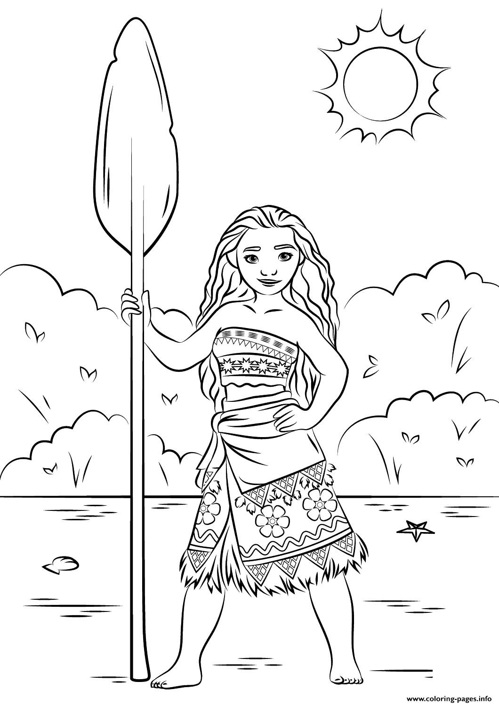 Moana Coloring Pages Pdf  Princess Moana Disney Coloring Pages Printable