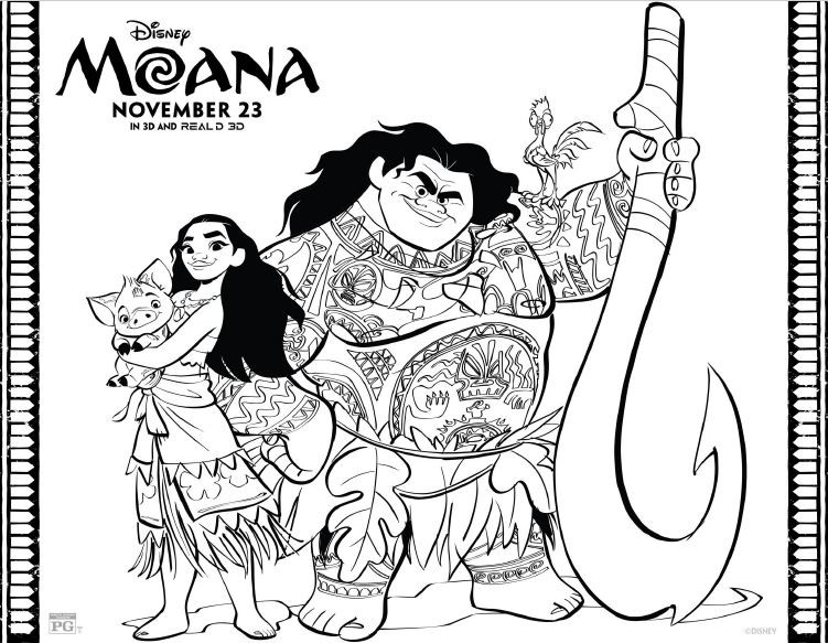 Moana Coloring Pages Pdf  MOANA Coloring Pages and Printables This Fairy Tale Life