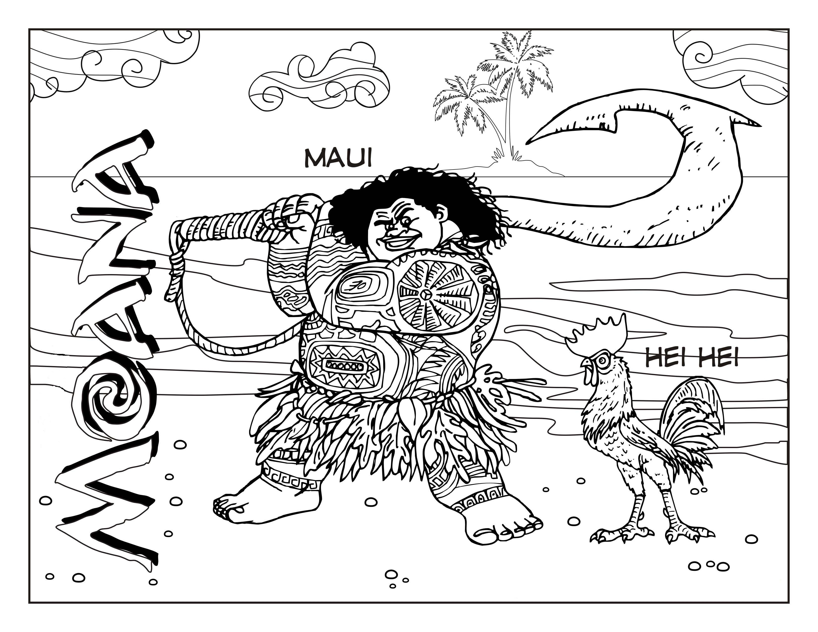 Moana Coloring Pages Pdf  Moana coloring pages to and print for free