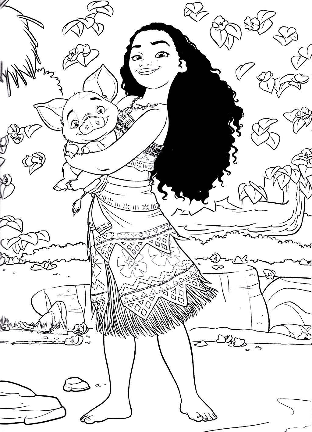 Moana Pua Coloring Pages  Moana Coloring Pages Best Coloring Pages For Kids