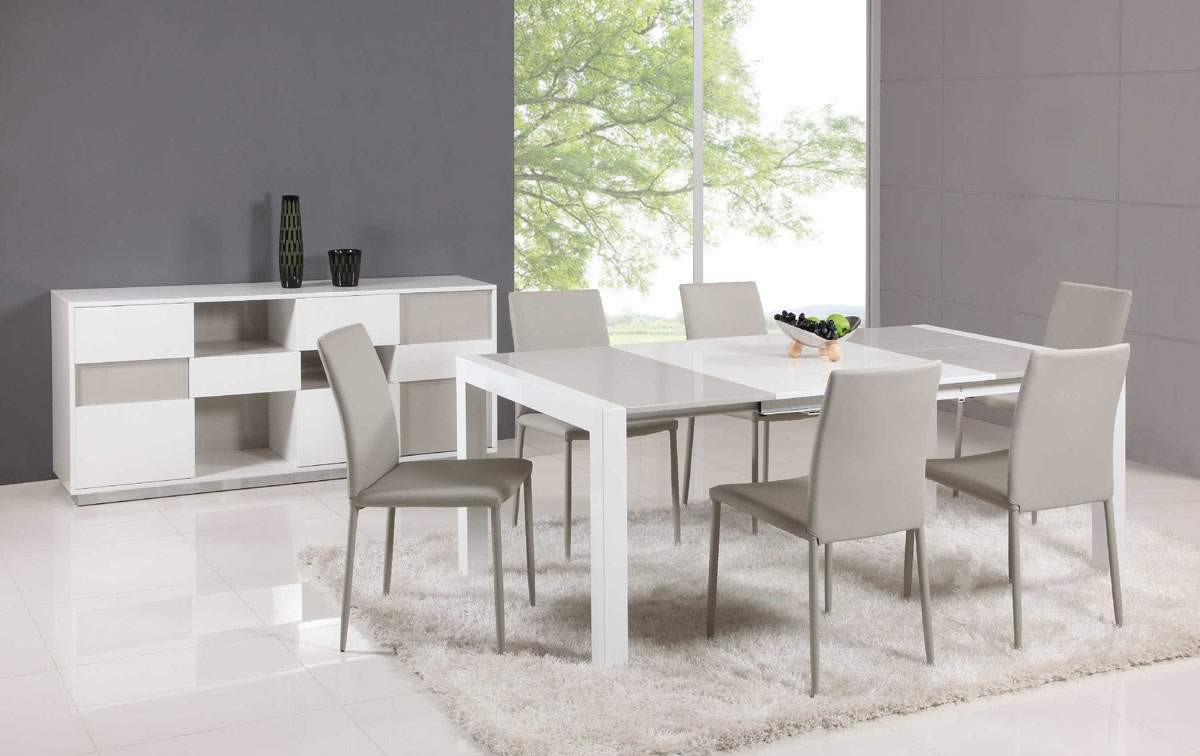 Best ideas about Modern Dining Table Set . Save or Pin Extendable Glass Top Leather Dining Table and Chair Sets Now.