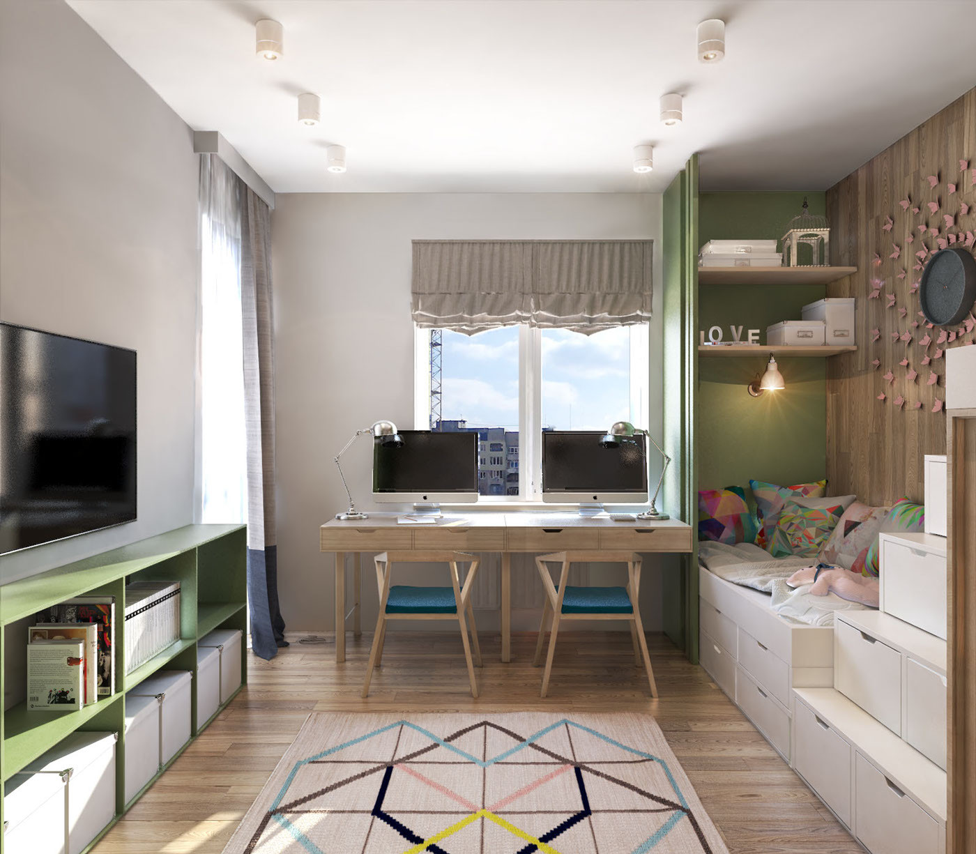 Best ideas about Modern Kids Room . Save or Pin A Contemporary Apartment with Lots of Open Space Now.