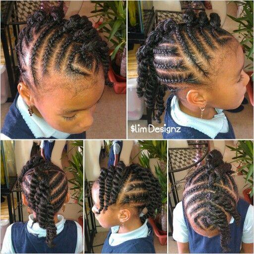 Mohawk Hairstyle For Little Girls  Children s Twisted Mohawk Cute hairstyle for a little
