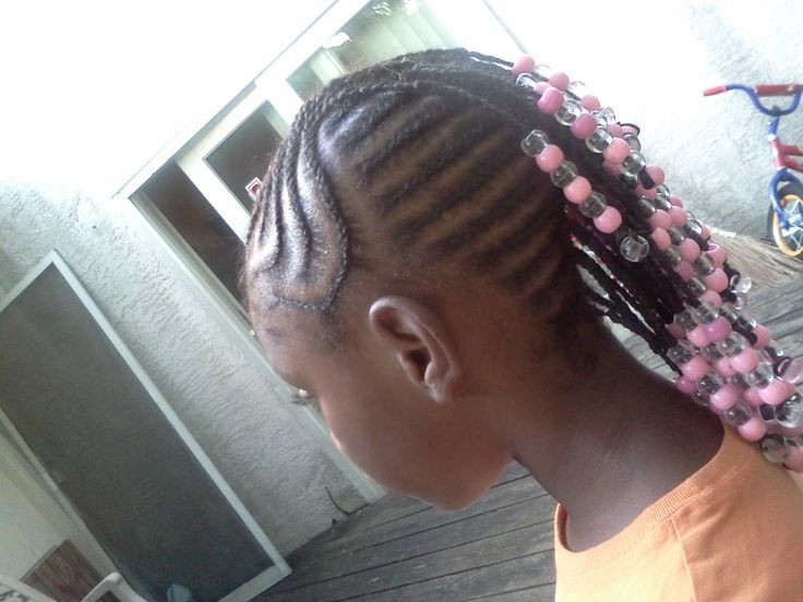 Mohawk Hairstyle For Little Girls  Little girls Braided Mohawk with beads