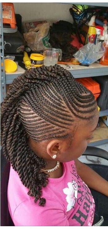 Mohawk Hairstyle For Little Girls  Little girls braided Mohawk
