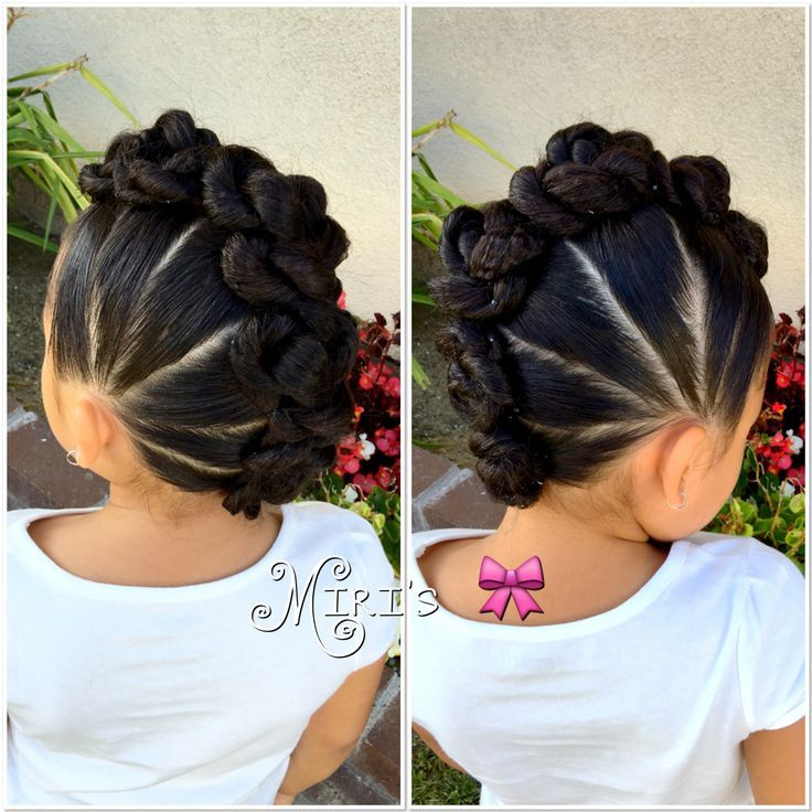 Mohawk Hairstyle For Little Girls  Mohawk with twists hair style for little girls
