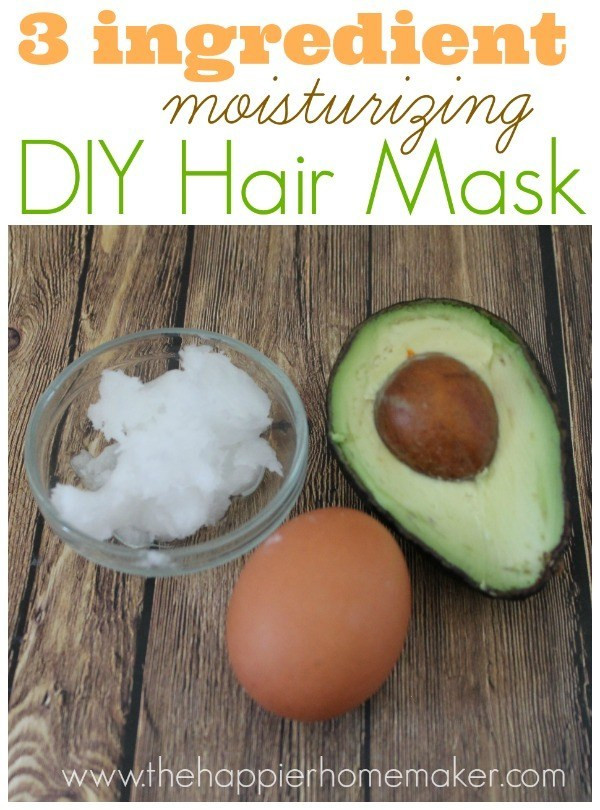Moisturizing Hair Mask DIY  Easy DIY Moisturizing Hair Mask The Happier Homemaker