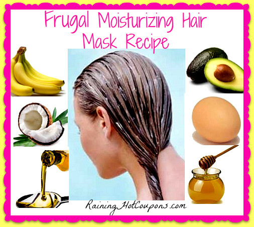 Moisturizing Hair Mask DIY  Super Easy and Frugal Moisturizing Hair Mask Recipe