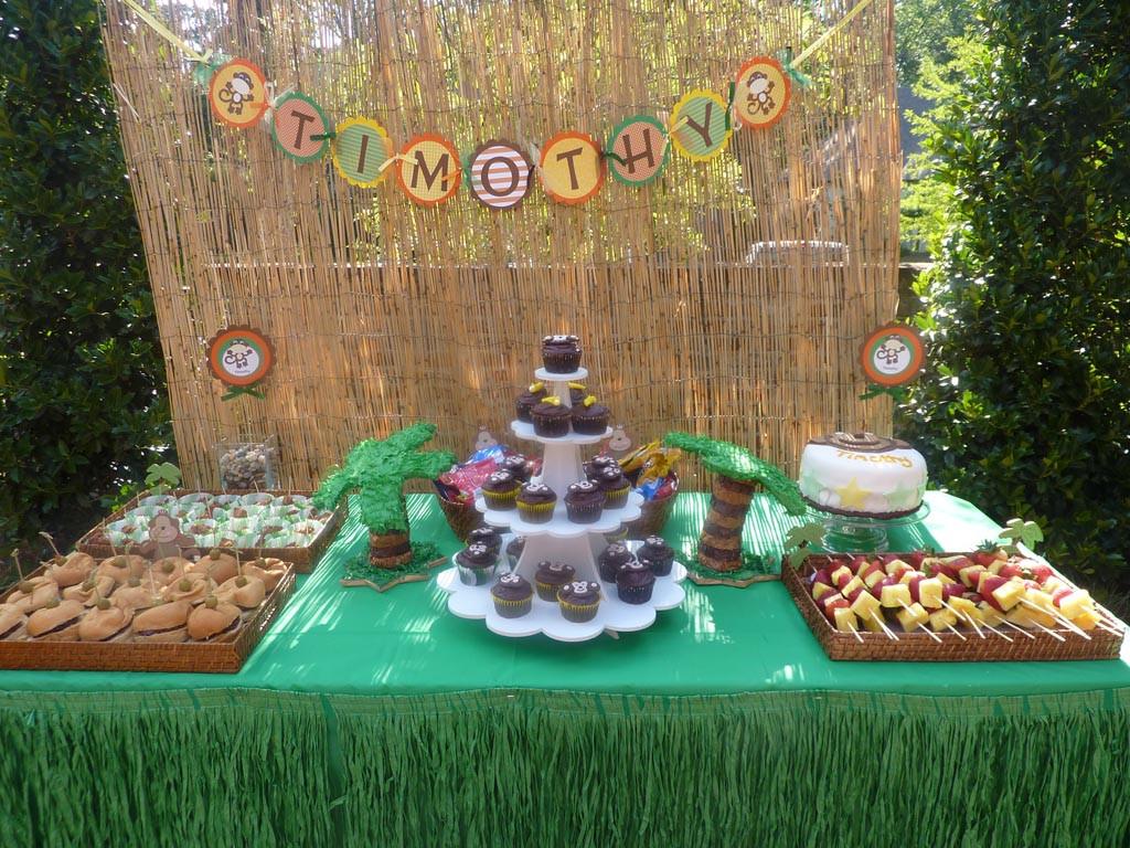Monkey Birthday Party  Monkey Themed 1st Birthday Party