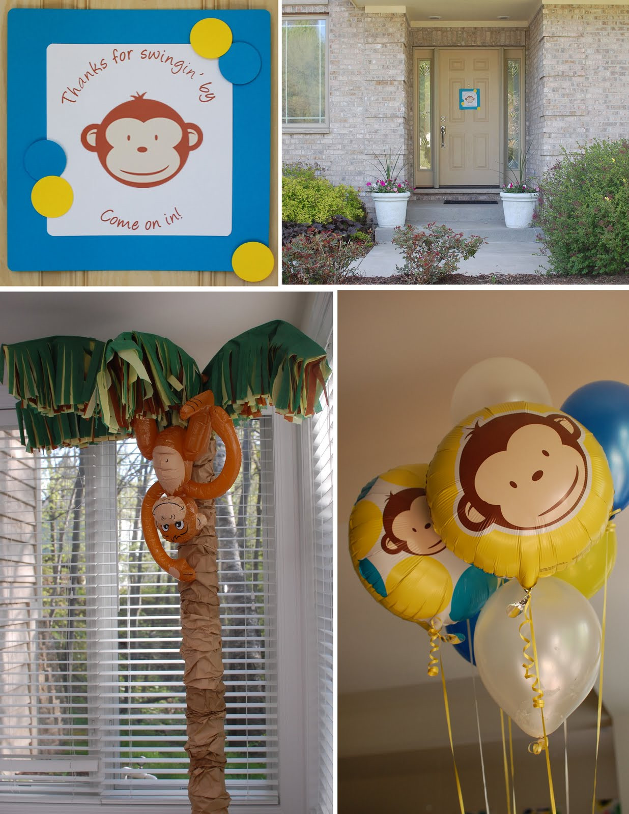Monkey Birthday Party  Mod Monkey Party Design Dazzle