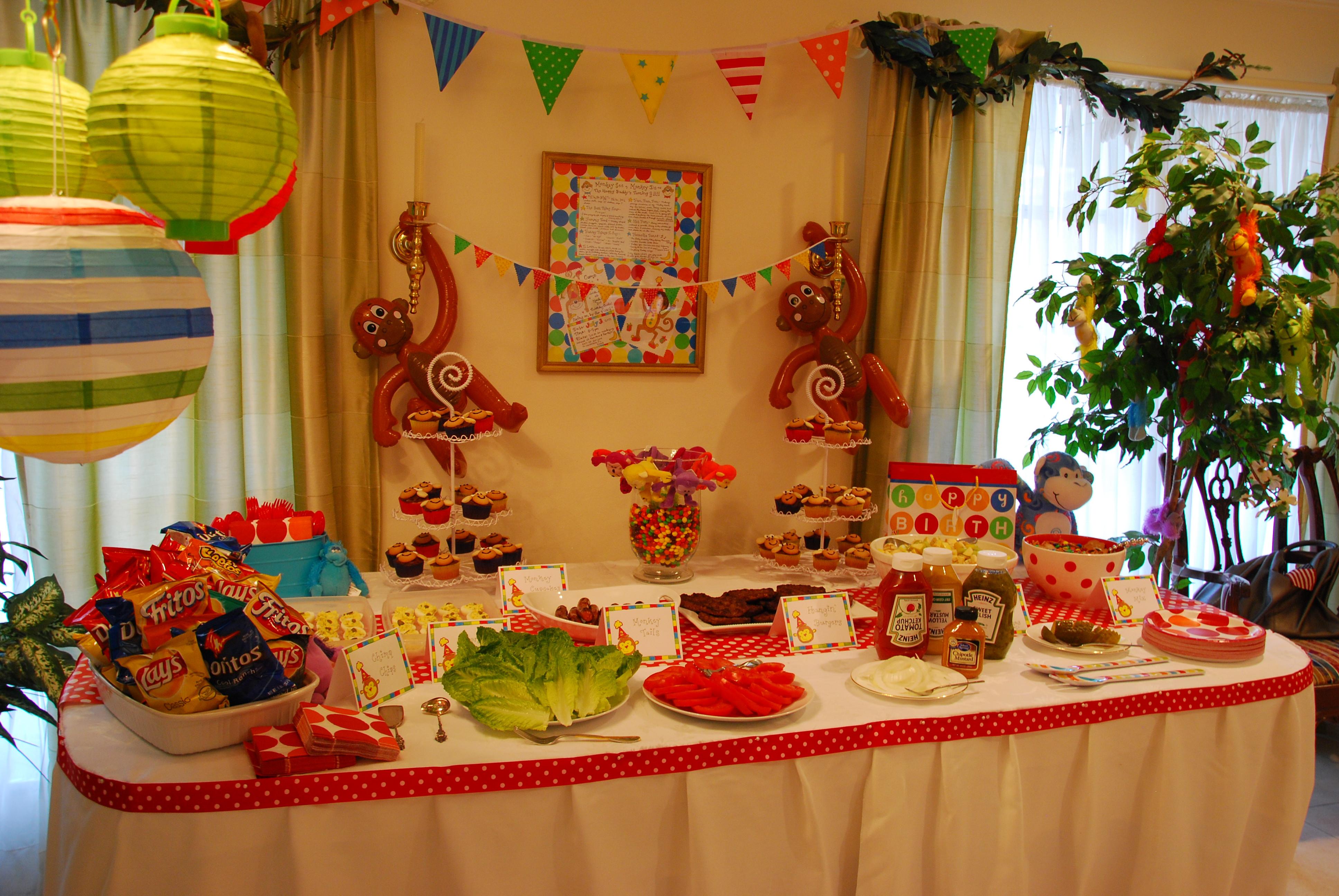 Monkey Birthday Party  The Happy Buddy s Monkey Birthday Party Happy Home Fairy