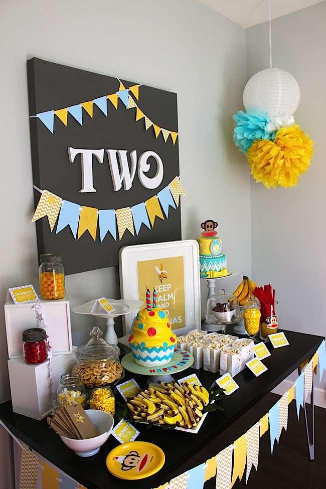 "Monkey Birthday Party  Kara s Party Ideas Paul Frank ""Keep Calm & Go Bananas"