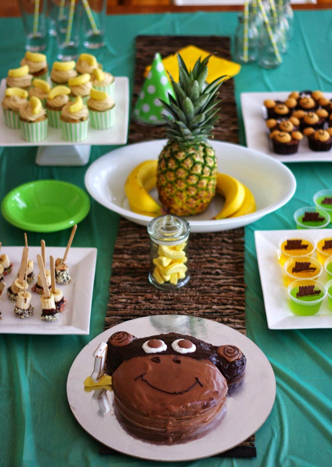 Monkey Birthday Party  the nOATbook Little Monkey 1st Birthday Party