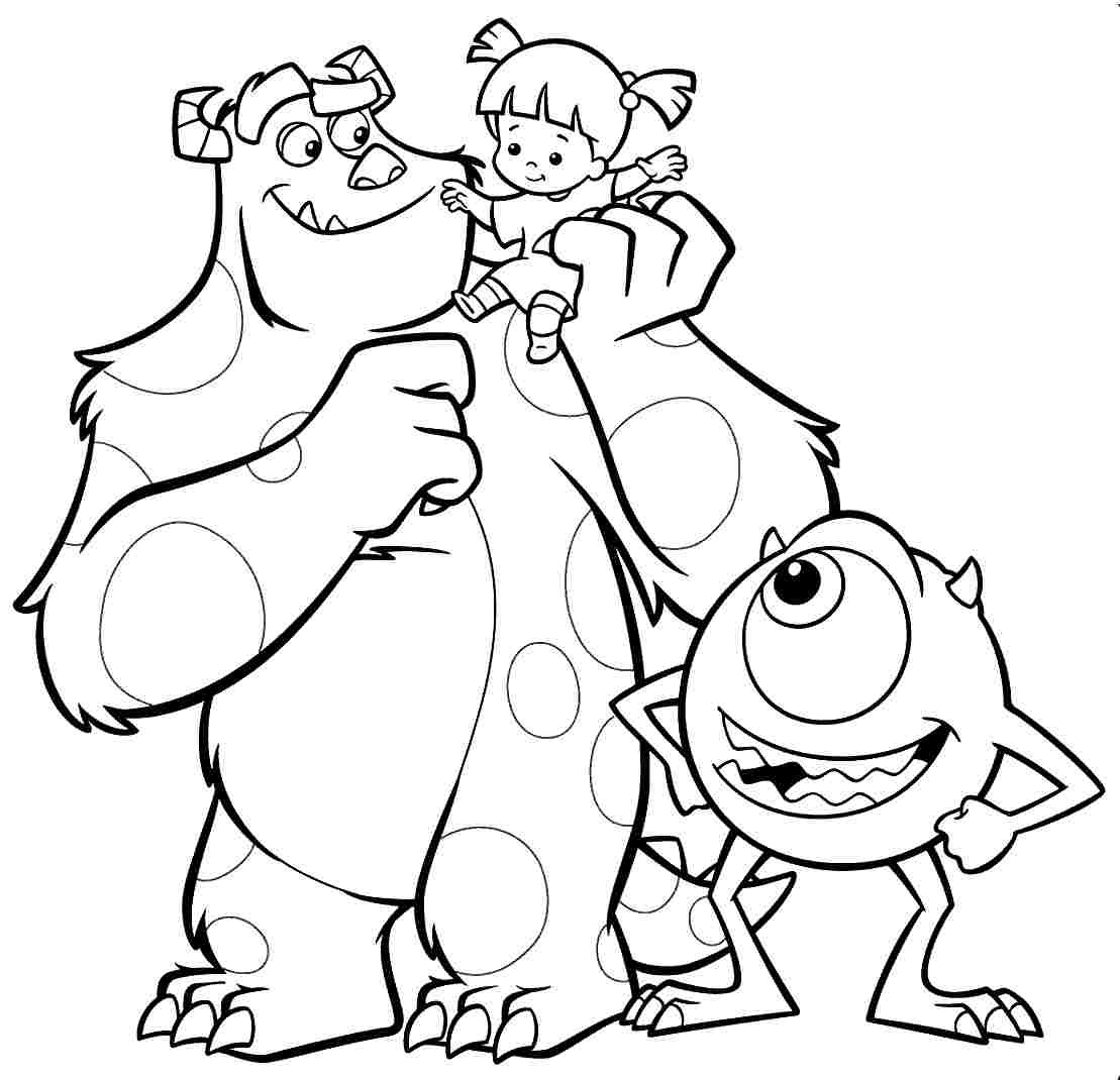 Monster Coloring Book  Best Monsters Inc Coloring Pages s