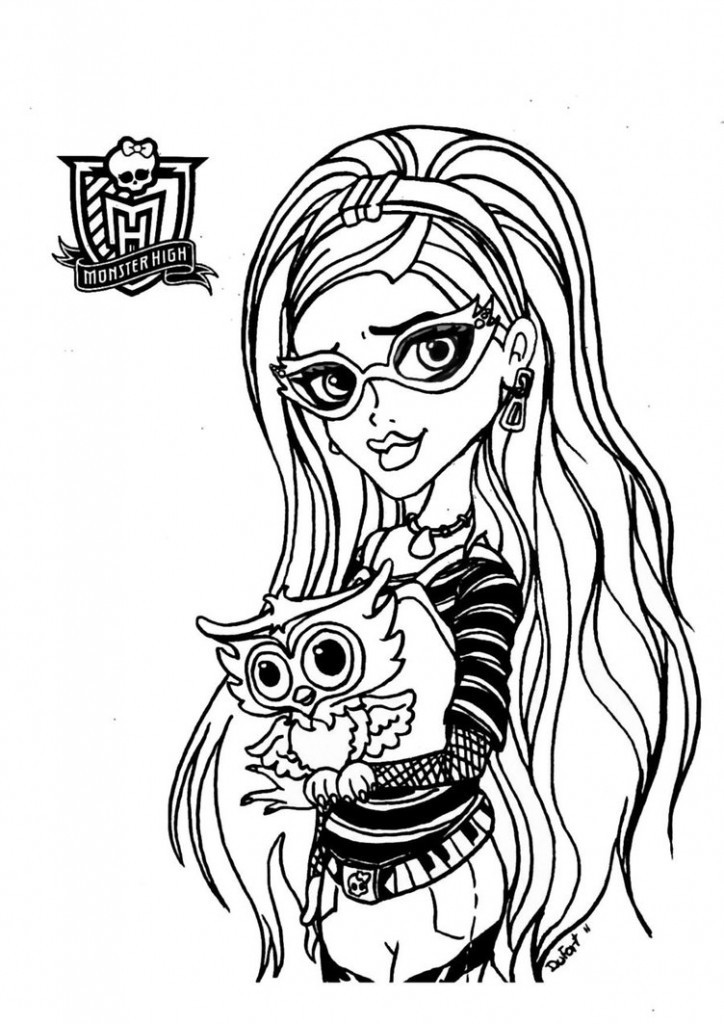 Monster Coloring Book  Free Printable Monster High Coloring Pages for Kids
