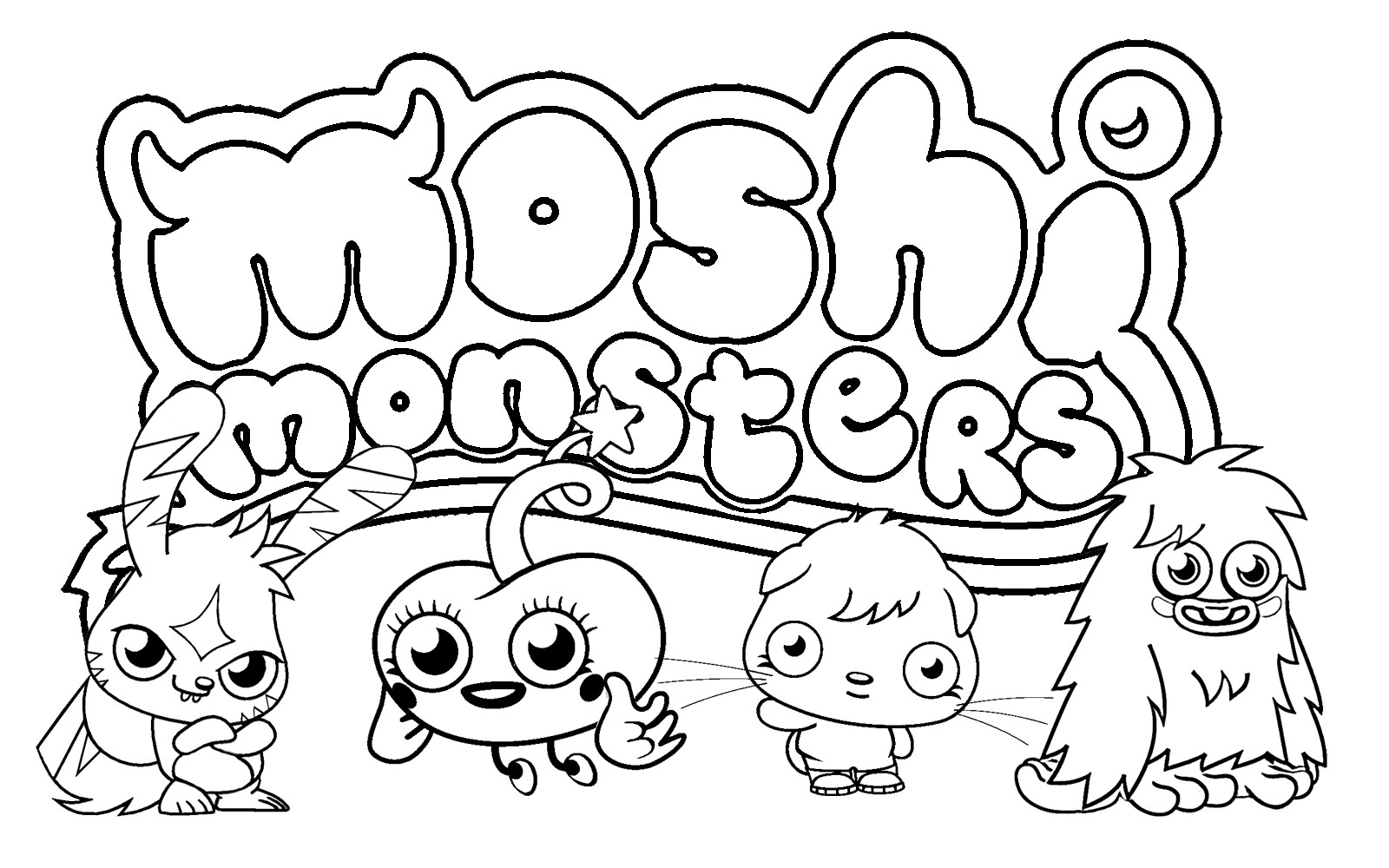 Monster Coloring Book  Free Printable Moshi Monster Coloring Pages For Kids