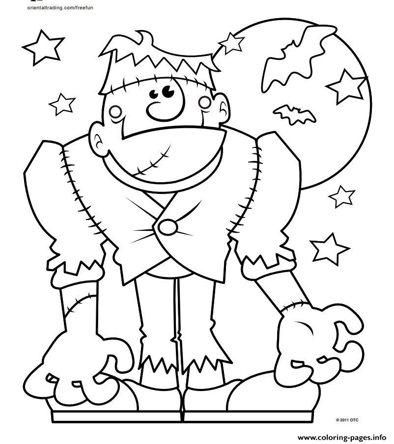 Monster Coloring Book  Halloween Monster Coloring Pages Printable