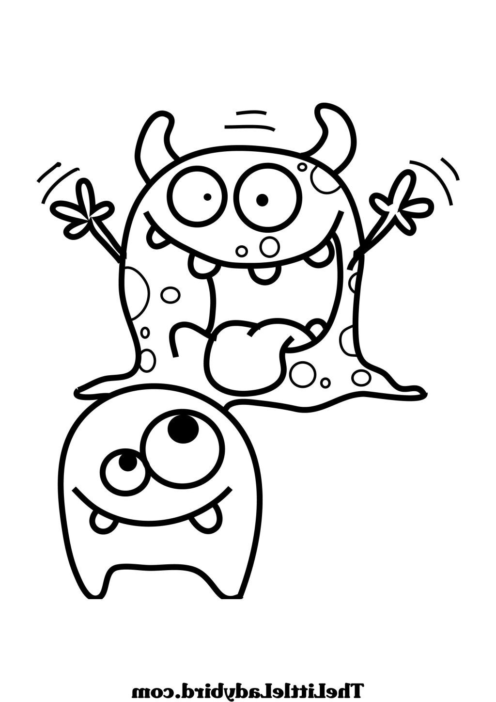 Monster Coloring Book  Silly Monster Coloring Pages to Print