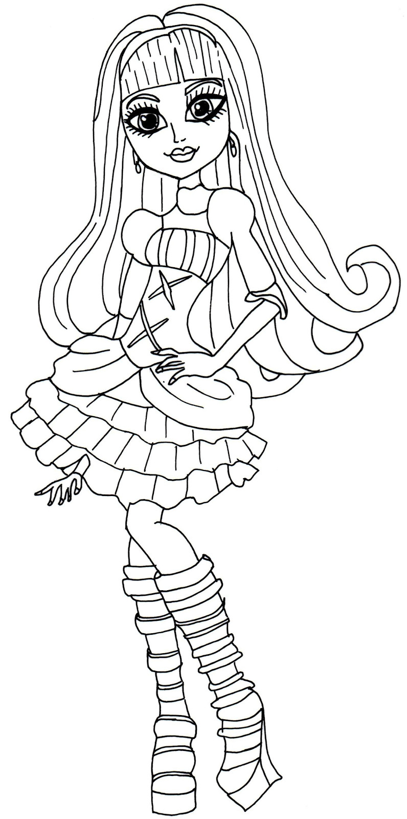 Monster Coloring Book  Monster High Coloring Pages