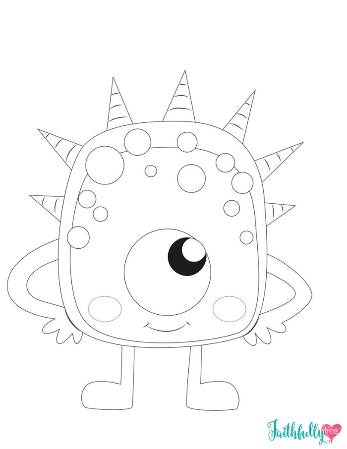 Monster Coloring Book  Monster Coloring Pages Free Printables