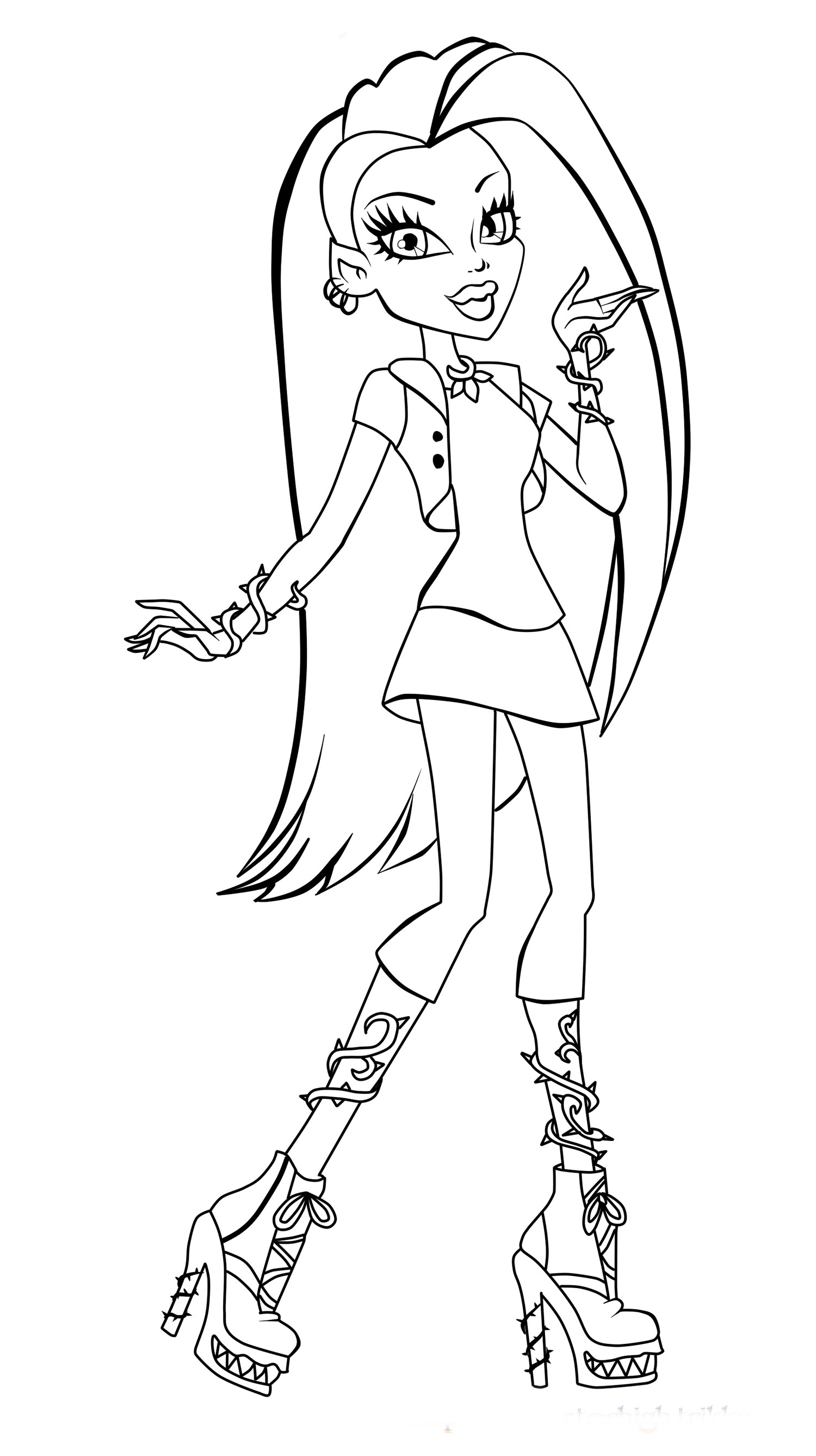Monster High Printable Coloring Pages  Monster High Coloring Pages 2018 Z31 Coloring Page