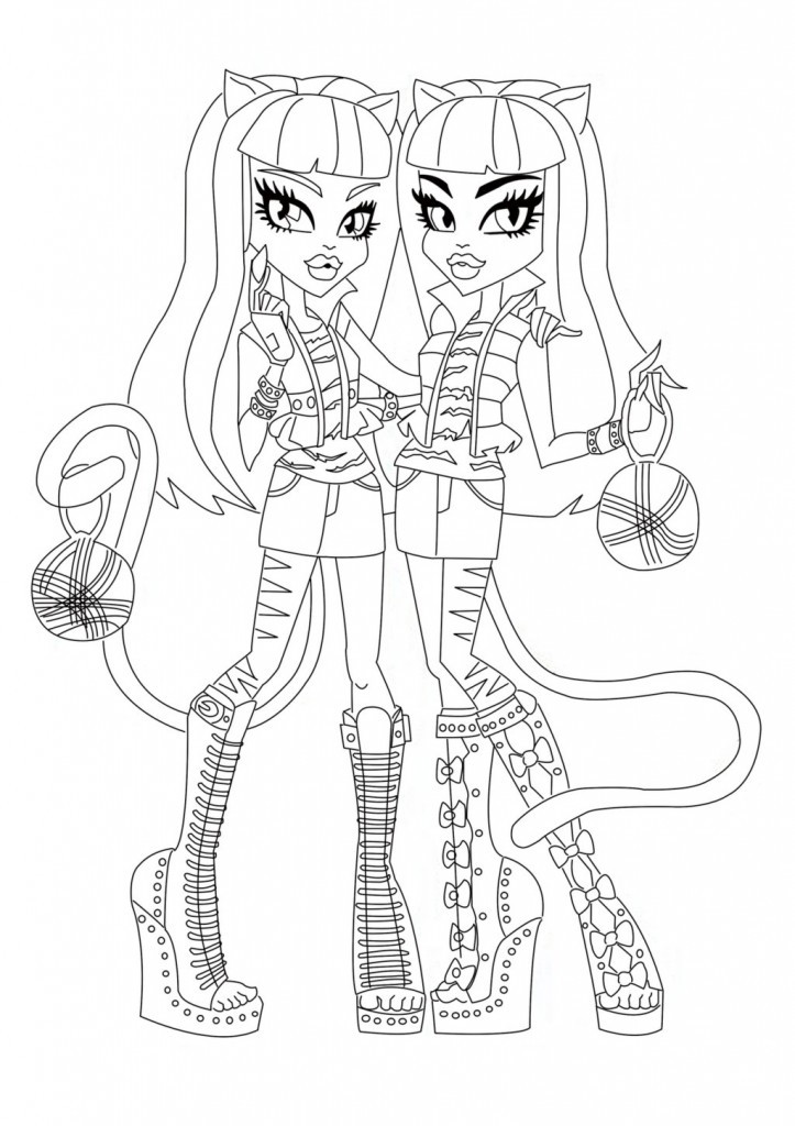 Monster High Printable Coloring Pages  Free Printable Monster High Coloring Pages for Kids