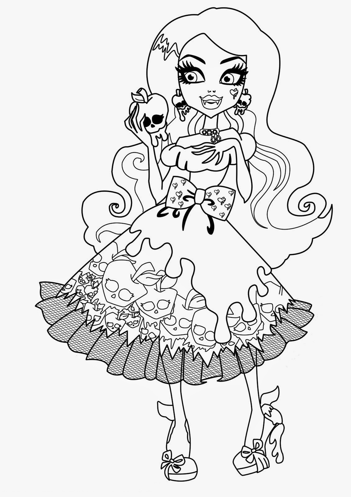 Monster High Printable Coloring Pages  Coloring Pages Monster High Coloring Pages Free and Printable